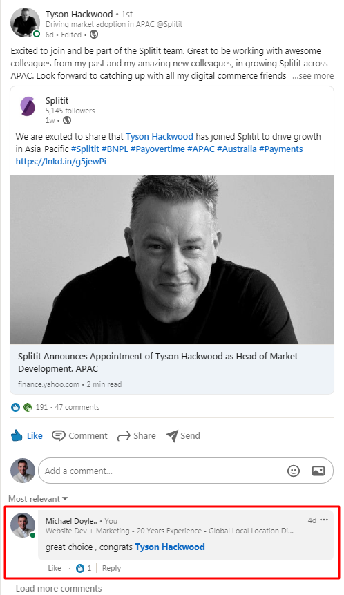Michael Doyle on LinkedIn - Top4 Marketing